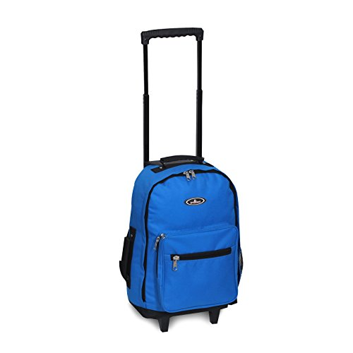 Everest Wheeled Backpack-Standard, Royal Blue (Small Wheeled Backpack)