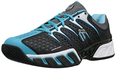 K-Swiss Women's Bigshot II Tennis Shoe,Black/Fiji Blue,12 M US