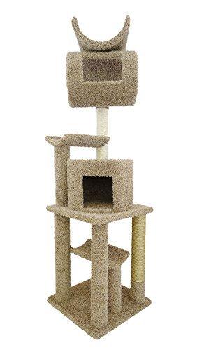 New Cat Condos Premier Cat Playstation, 72-Inch, Brown