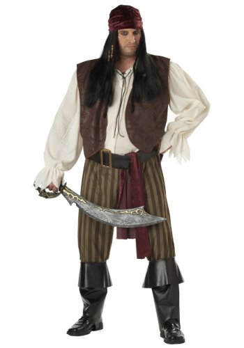 [Rogue Pirate Plus Size Costume] (Plus Size Halloween Costumes Pirate)