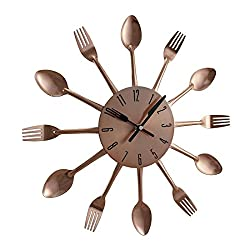 Benzara 85522 Metal Copper Wall Clock, 15 D
