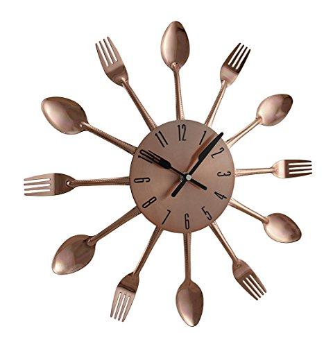 Benzara 85522 Metal Copper Wall Clock, 15