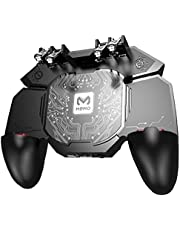 Phone Gamepad Controller with Cooling Fan Adjustable Smart Phone Gaming Grip Triggers Gamepad