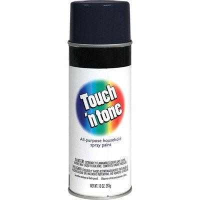 - 10 Oz Black Touch 'N Tone Spray Paint Semi Gloss [Set of 6]