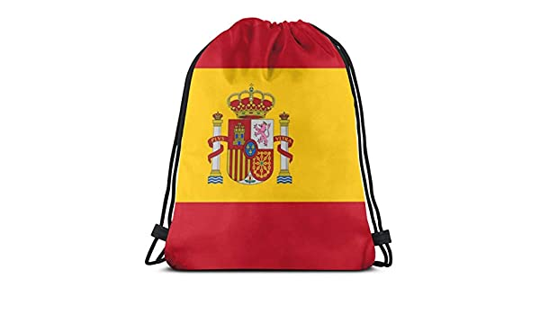 NA - Mochila con cordón para el hombro, diseño de bandera de España, bolsa de deporte, mochila para escuela, gimnasio, viaje: Amazon.es: Ropa y accesorios