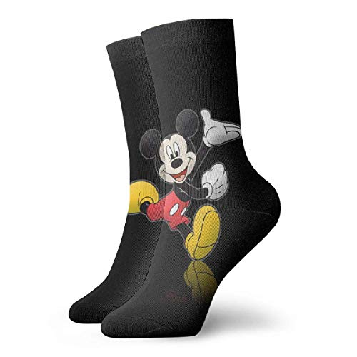 - WILLIAM FIELD Mens Crew Socks Dancing Mickey Mouse Painting Compression Socks Cute Cushion Ankle Socks