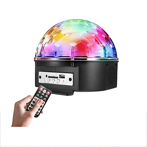 (INTSUN Disco Ball Strobe Light Party Lights, 6 Color Sound Activated Stage Lights with Remote Control MP3 Player for Home Dance Birthday DJ Bar Karaoke Xmas)