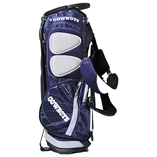 (Team Golf NFL Dallas Cowboys Fairway Golf Stand Bag, Lightweight, 14-way Top, Spring Action Stand, Insulated Cooler Pocket, Padded Strap, Umbrella Holder & Removable Rain Hood)