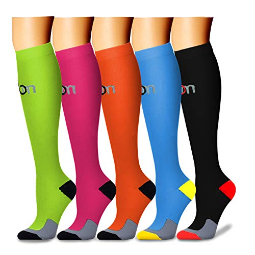 CHARMKING Compression Socks 15-20 mmHg is BEST Graduated Athletic & Medical for Men & Women Running, Travel, Nurses, Pregnant - Boost Performance Blood Circulation & Recovery(Large/X-Large,Assorted 3)
