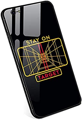 sports shoes 01a0f 9aa4b Amazon.com: iPhone 6 Plus Cases,Stay On Target Tempered Glass iPhone ...