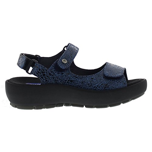 Wolky Womens 3325 Rio Leather Sandals Blue