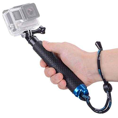 (Vicdozia Portable Hand Grip Waterproof Extension Selfie Stick Handheld Monopod Adjustable Pole Compatible with GoPro Hero(2018) Hero 7 6 5 4 AKASO SJCAM DJI OSMO Action Cam and More Sports Cameras)