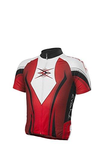 EVAKI Sportswear Men's Race Cut Cycling Jersey, Red, X-Large