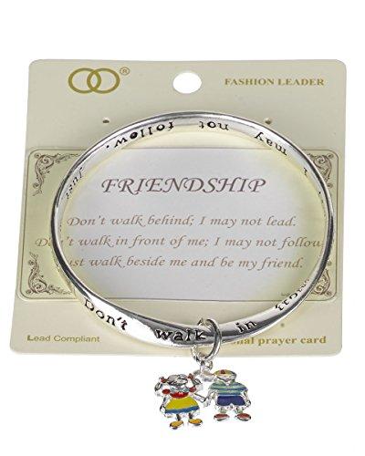 Jewelry Nexus Friendship Charm Bracelet Inspirational Don't walk Behind Don't follow Walk (Best Jewelry Nexus Friend Friendship Bracelets)