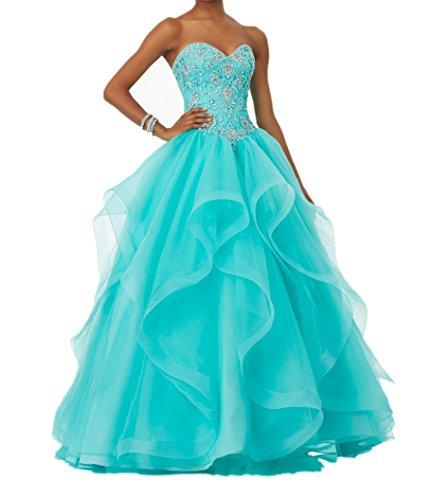 Abendkleider Pailletten La Jugendweihe Linie Kleider mia Braut 2018 Gruen Neu Minze Prinzess Lang Promkleider Festlichkleider Kleider A wCvqICH