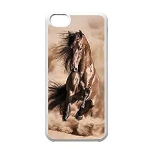 JFLIFE Beautiful Horse Phone Case for iphone5c White Shell Phone [Pattern-1] hjbrhga1544