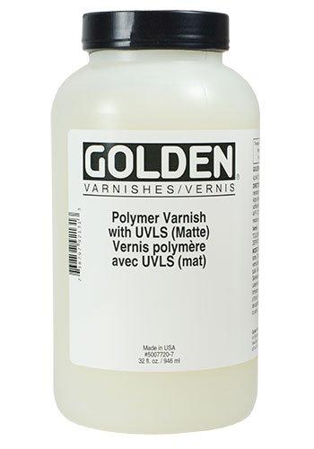 Golden Polymer Matte Varnish with UVLS - 32 oz Bottle
