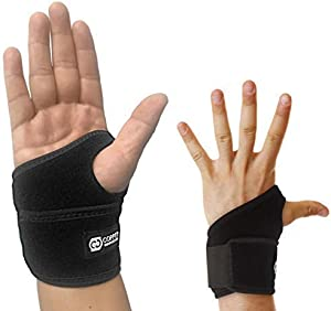 Copper Compression Wrist Wrap and Wrist Brace - Guaranteed Highest Copper Content Support for Wrists, Carpal Tunnel, Arthritis, Tendonitis. Wrist Sleeve for Men and Women Fit for Right and Left Hand