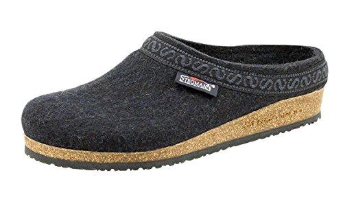 Stegmann Women's Wool Felt Clog with Cork Sole Graphite