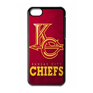 NFL kansas city chiefs Print Black Case With Hard Shell Cover for Apple iPhone 5C