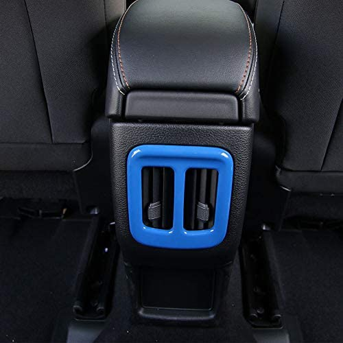 CheroCar Car Interior Dashboard Air Conditioner Vent Trim for Jeep Compass 2017 2018 Carbon Fiber Grain