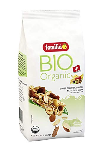 Familia BIO Organic Swiss Muesli, Fruit and Nut, 16-Ounce Bag