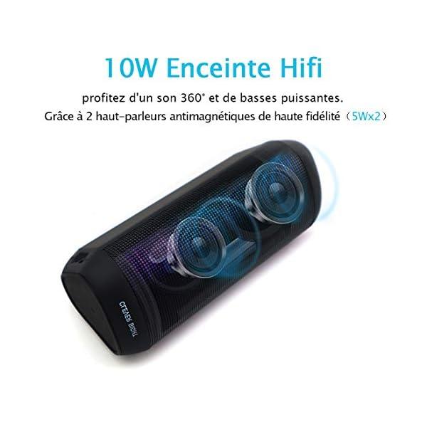 Enceinte Bluetooth Portable Lumineuse Haut-Parleur Bluetooth sans Fil avec LED Lumière Radio, Technologie TWS,2000mAh Autonomie 8-10H,Idéal la Maison, Camping,l'extérieur Les Voyages 2