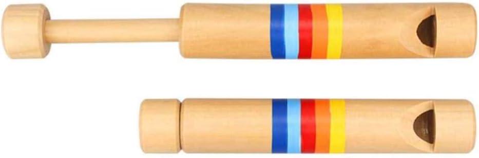 STOBOK Holzdia Pfeife Spielzeug Fl/öte Pfeife Spielzeug Musikinstrument Ger/äuschhersteller f/ür Baby Kinder Kinder Kleinkind
