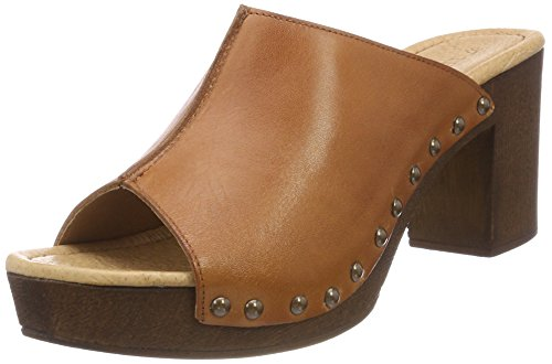 Eva Plateforme cognac Ten Points Sandales Femme Marron 54Wzqf
