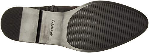 Calvin Women's Klein Boot Donnily Leather Riding Black 1vUq1