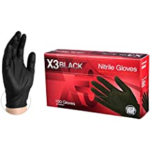 AMMEX Nitrile Gloves - Disposable, Powder Free, Latex Free, 3 mil, Food Safe