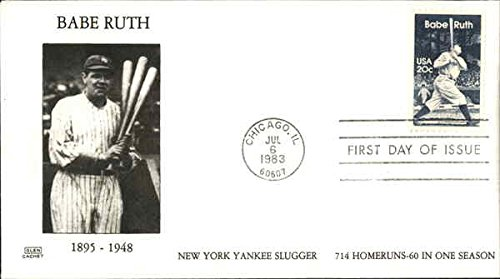 - Babe Ruth 1895-1948 New York Yankee Slugger 714 Homeruns-60 in one season Original First Day Cover