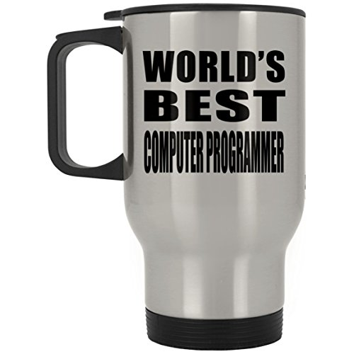 (World's Best Computer Programmer - Travel Mug, Stainless Steel Tumbler, Best Gift for Birthday, Wedding Anniversary, New Year, Valentine's Day, Easter, Mother's/Father's Day)