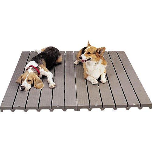 PetEdge Molded Plastic Dog Kennel Deck, 8-1/2-Pound (Dog Deck)