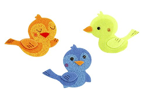 Darice Felties Felt Stickers - Birds - 14 Pieces