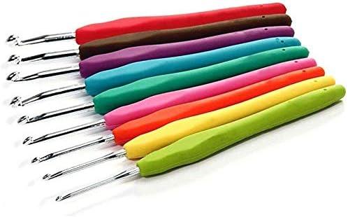 [해외]Crochet Hook Set (9pc) Comfort Handle Soft Grip Crochet Hooks Kit | Smooth Needles for Superior Results | All Patterns and Yarns | Standard Sizes (A)2mm - (I)6mm | Perfect for Arthritic Hands / Crochet Hook Set (9pc) Comfort Handle...
