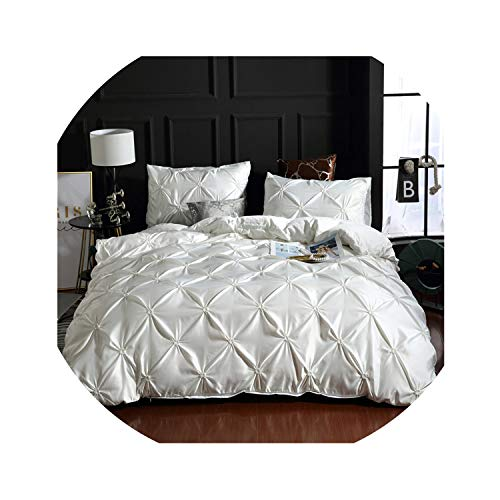 Clayton M Bracewell Luxury Solid Comfortable Quilt Cover Adult Bed Bedding Linens White/Gray Bed Cover Pillowcase Us Twin Bed Duvet Cover Set,No-1,Us Queen(3Pcs)]()