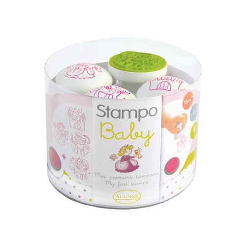 ALADINE 55214 Stampo Baby Fairy Tale Playset 4 Stamps and 1 Ink Pad Pink