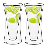 Style Setter Double Wall Tumblers – Set of 2 11.8oz Insulated Home Barware Glasses for Cold Drinks, Cocktails, Coffee, Hot Tea & Other Beverages – Unique Gift Idea for Birthday, Holiday & More