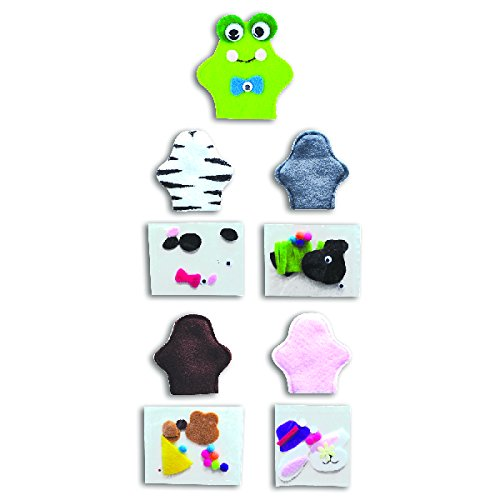Puppet Display Finger - Animal Finger Puppet Craft Sets (Per Dozen)