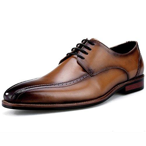 Tamaño Ropa para Clásico Estilo Zapatos Masculina de Negro Zapatos Clásicos UK7 Cuero de Hombre de Marrón Diario Color de de Formal Británico de Piel Primavera de 41 EU Zapatos Negocios Hombre 1gOFgt