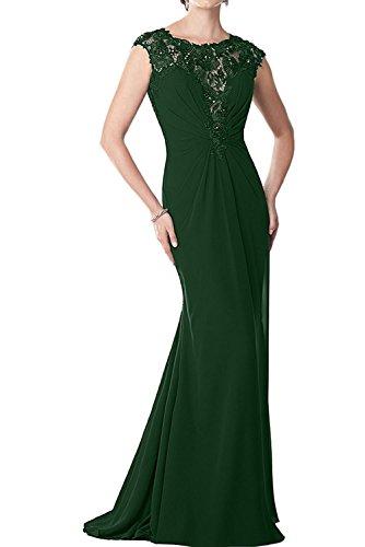Damen Marie Abendkleider Gruen La Braut Etuikleider Abschlussballkleider Dunkel Brautmutterkleider Lang Spitze 7HqO4Zw