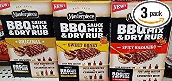 KC Masterpiece BBQ Sauce Mix & Dry Rub VARIETY PACK