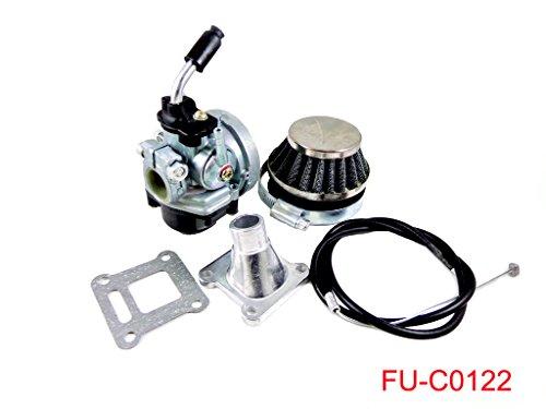 Performance Racing Carburetor Air Filter Throttle Cable Assembly for 2 Stroke 47cc 49cc Mini Dirt Pocket Bike Quad Chopper ATV Taotao Sunl Coolster