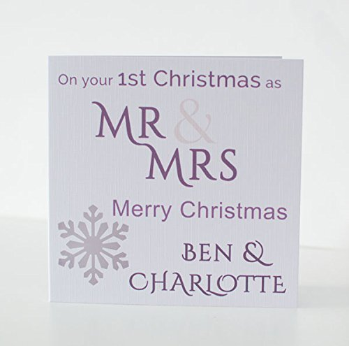 1st Christmas Card For Newlyweds Mr Mrs Mr Mr Mrs Mrs