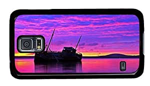 Hipster rugged Samsung S5 Cases shipwreck purple sunset PC Black for Samsung S5 by ruishername