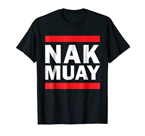 Mens Nak Muay Thai Fighter T-shirt Large Black (Muay Thai Boxer)