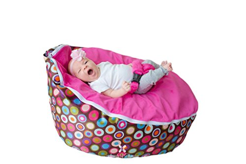 BayB Filled Bean Bag For Babies, Pink
