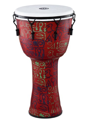 Meinl Percussion PMDJ1-L-F Large Mechanically Tuned Travel Series Djembe with Synthetic Shell and Head, Pharaoh's Script by Meinl Percussion