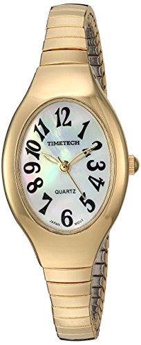 TIMETECH Men's Alarm Sport Watch Analog Digital Metal Case Brown Strap ()